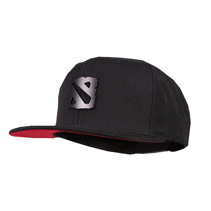 Dota 2 metal logo black hat