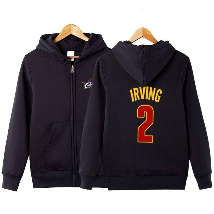 ef22e9da4f2 NBA Kyrie Irving Number 2 Zipper Hoodie - Dota 2 Store
