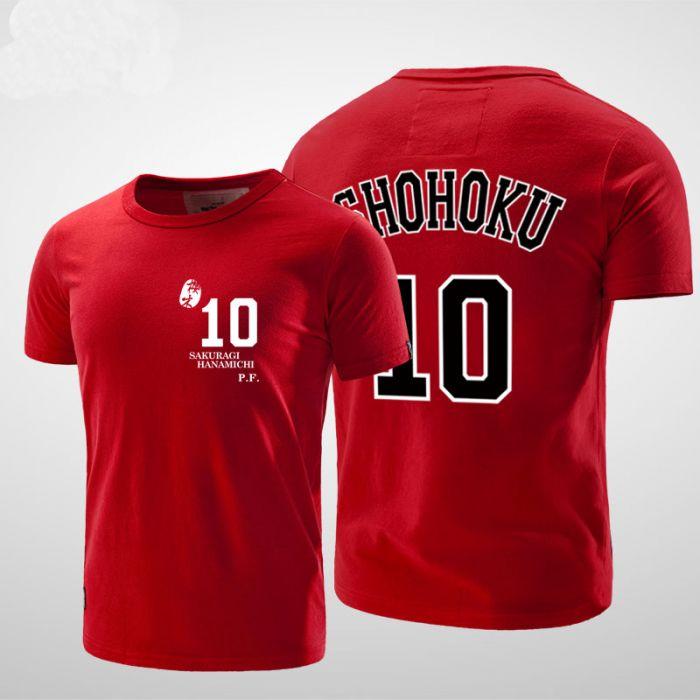 4550e68da7c Slam Dunk Shohoku School Hanamichi Sakuragi Number 10 T Shirt - Dota ...