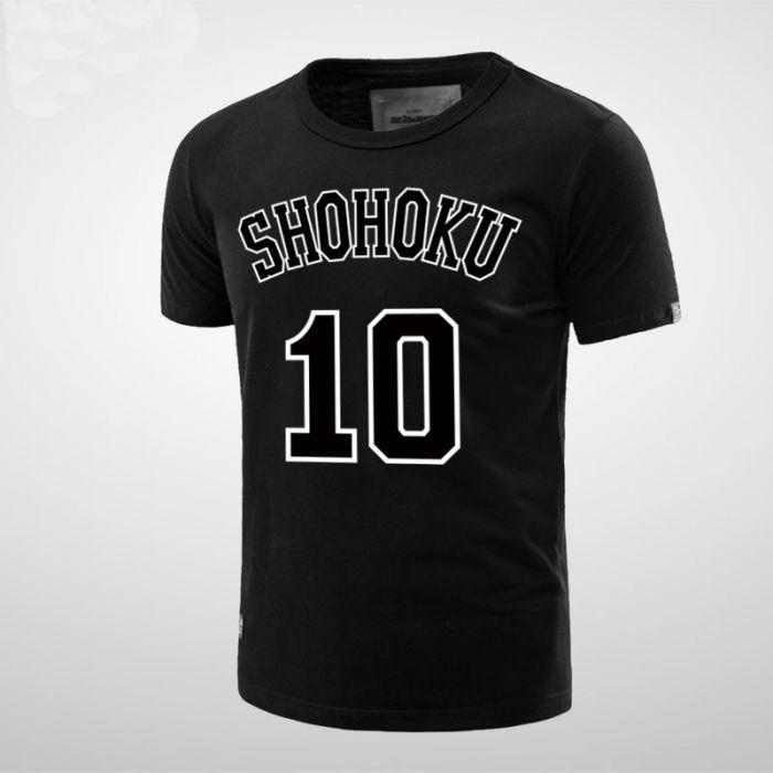 9d0a16b5e55 Slam Dunk Shohoku School Hanamichi Sakuragi Number 10 Tee Shirt ...