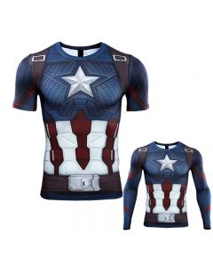 3D Captain America T-shirt Cosplay