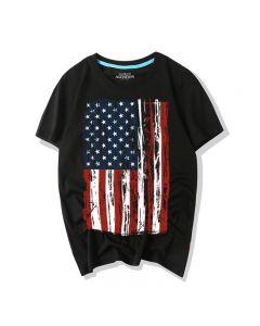 American Flag T shirts Short Sleeve Tee Top