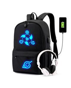 Anime Naruto USB Backpack Travel Laptop Shoulder Bag Cartoon Student Bag