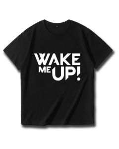 Avicii Wake me Up Printed T-shirt Cotton Tee Shirt