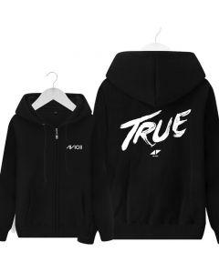Avicii True Printed Full-Zip Hoodie Fleece Sweatshirts