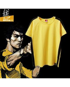 Bruce Lee T-shirt Yellow Tee top