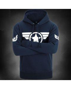 Captain America Hoodie Men's Pullover Fleece Sweatshirt