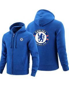 Chelsea F.C. Full zipper Hoodie Fleece Jackets