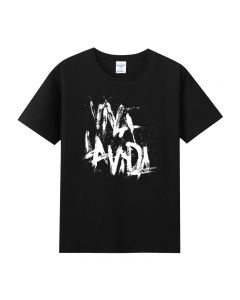 Coldplay Viva La Vida Tee shirt Cotton Tee Top