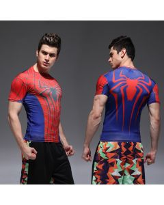 Compression Mens Spiderman Fitness T Shirt