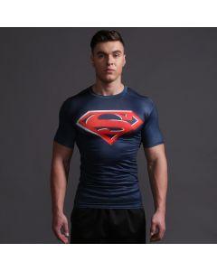 Compression Mens Superman Fitness T Shirt
