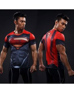 Compression Superman Fitness Male Crossfit Tops