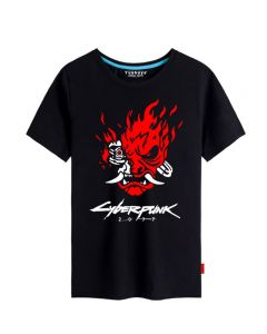 Cyberpunk 2077 T-shirt Short Sleeve Tee Top