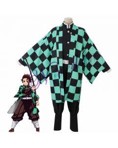 Demon Slayer Kamado Tanjirou Cosplay Costume Cloak Cape