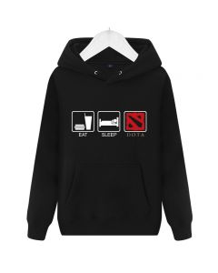 "DOTA 2 ""EAT SlEEP DOTA"" Hoodie Hoodied Sweatshirt"