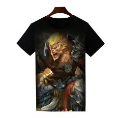 Dota 2 Monkey King Printed T-Shirt Short Sleeve Shirt