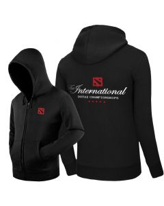 DOTA 2 TI9 The International Zipper Hoodie Outerwear Jacket