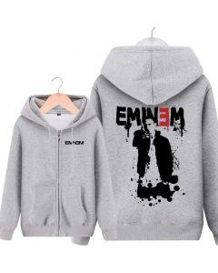 Eminem Fleece Full-Zip Loose-Fit Hoodie Sweatshirts