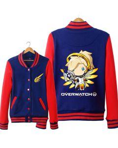 Fashion Overwatch Mercy Baseball Coat