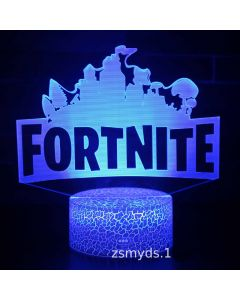 Fortnite 3D LED Night Light Colour Changing USB Desk Lamp