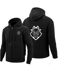 G2 Esports Full-Zip Hoodie Fleece Sweatshirts