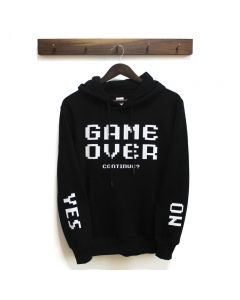 Game Over Continue YES No Hoodie Pullover Sweatshirts