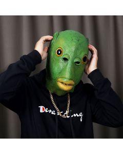 Green Fish Head Mask Animal Headgear