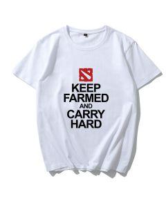 Dota 2 Keep Farmed AND Carry Hard Tshirt Short Sleeve Tee