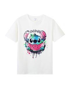 Lilo & Stitch Cotton Tshirts Short Sleeve Tee