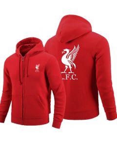 Liverpool FC Full zipper Hoodie Fleece Jackets