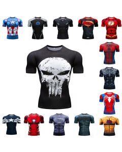 Marvel America Captain Civil War compression t shirt men 3D printing T-Shirts