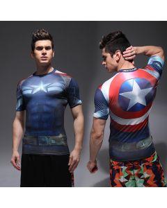 Marvel Captain America Fitness T-Shirt - Men's