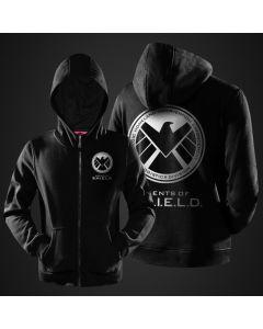 Marvel Captain America Shield Hoodie Jacket