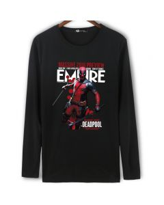 Marvel Deadpool Long Sleeve Black Shirt