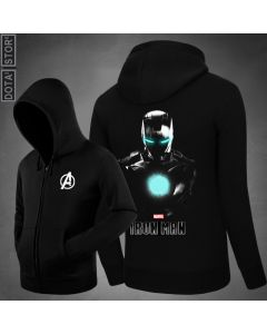 Marvel Iron Man Zipper Hoodie Sweatshirt With Hoody