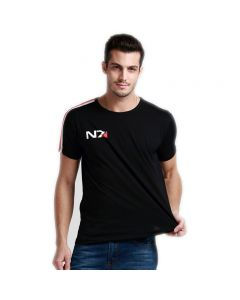 Mass Effect N7 T-Shirt Black Tee Shirts