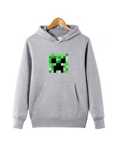 Minecraft Creeper face Printed Kids Hoodie Pullover Sweatshirt