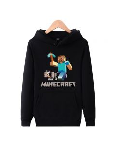 Minecraft Creeper Graphic Pullover Hoodie for men and women