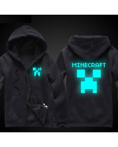 Minecraft Creeper Zip-Up Luminous Hoodie