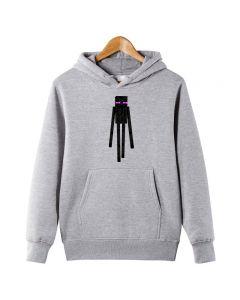 Minecraft Enderman Printed Kids Hoodie Pullover Sweatshirt