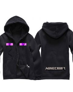 Minecraft Enderman Zip-up Hoodie for men and women