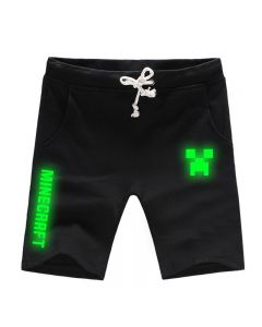 Minecraft Luminous Short Joggers with Pockets