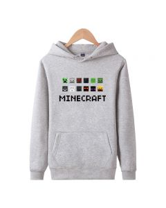Minecraft Pattern Printed Pullover Hoodie for men and women