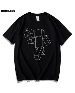 Minecraft Steve T-shirt Cotton Tee Top
