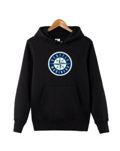 MLB Seattle Mariners Logo Printed Hoodie Fleece Sweatshirt