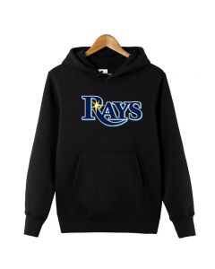 MLB Tampa Bay Rays Logo Printed Hoodie Cotton Sweatshirt