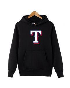 MLB Texas Rangers Logo Printed Hoodie Cotton Sweatshirt