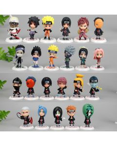 Naruto Action Figure Toy 7cm Doll 23pcs/lot