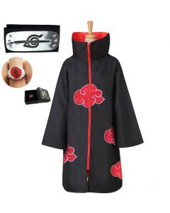 Naruto Akatsuki Cloak Cape Cosplay Costume