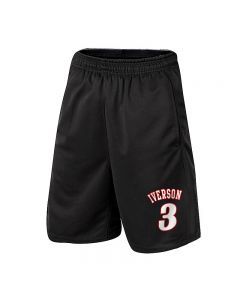 NBA Allen Iverson Athletic Shorts Basketball Jogger with Pockets